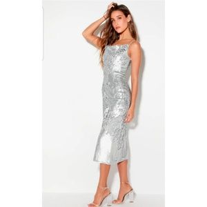 Keepsake the label midi sequin dress